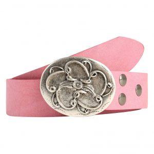 Wechselgürtel Ledergürtel mit Wechselschnalle Wechselschließe Blume Schnörkel