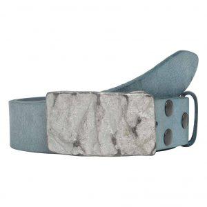 Wechselgürtel Ledergürtel mit Wechselschnalle Wechselschließe Felswand grau