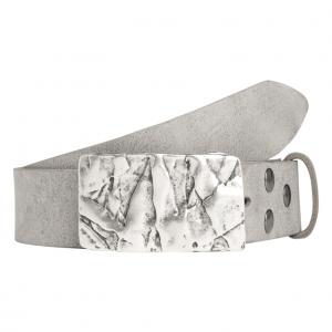Wechselgürtel Ledergürtel mit Wechselschnalle Wechselschließe Felswand silber