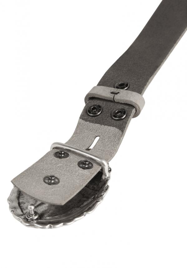 Wechselgürtel Ledergürtel mit Wechselschnalle Wechselschließe Oval Nieten Strass