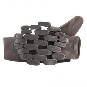 4260643980Wechselgürtel Ledergürtel mit Wechselschnalle Wechselschließe Steine817 Front 1 scaled