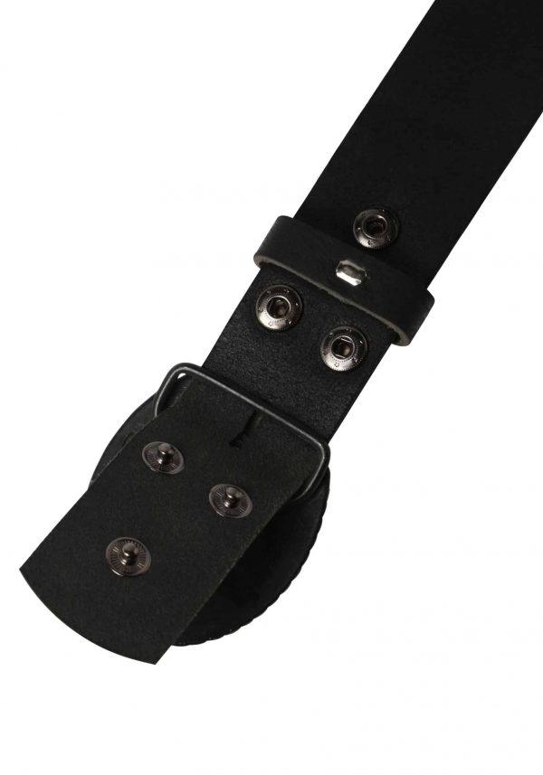 Wechselgürtel Ledergürtel mit Wechselschnalle Wechselschließe Timmendorf Swarovski schwarz
