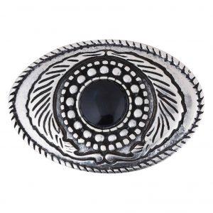 Unsere Gürtelschließen Gürtelschnallen: WechselSchließe Wechselschnalle Wechselschließe Oval schwarzer Stein