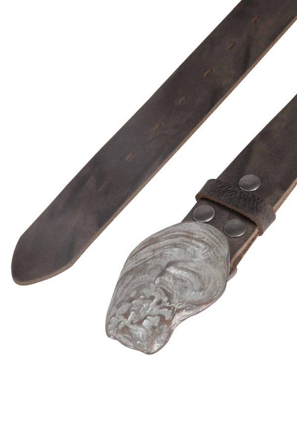 Wechselgürtel Ledergürtel mit Wechselschnalle Wechselschließe Auster grau rosa