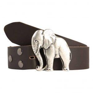 Wechselgürtel Ledergürtel mit Wechselschnalle Wechselschließe Elefant