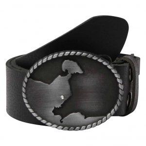 Wechselgürtel Ledergürtel mit Wechselschnalle Wechselschließe Grömitz Swarovski schwarz