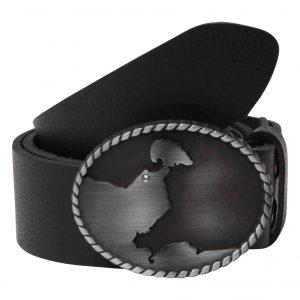 Wechselgürtel Ledergürtel mit Wechselschnalle Wechselschließe Heiligenhafen Swarovski schwarz