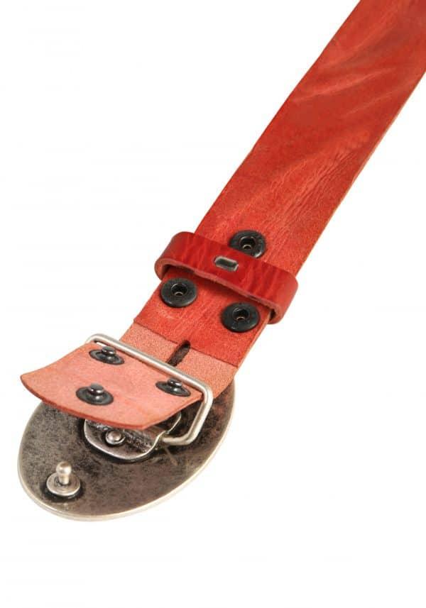 Wechselgürtel Ledergürtel mit Wechselschnalle Wechselschließe Flamme oval rot