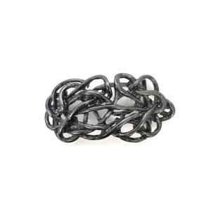 Strohknoten schwarz