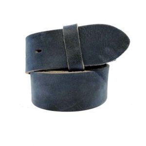 Lederguertel ohne Schnalle Guertel ohne Schnalle antik blau 1