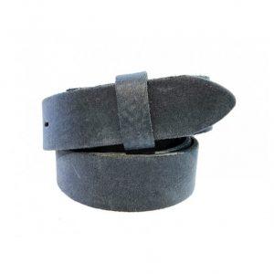 Wechselgürtel Ledergürtel blau 3cm ohne Schnalle