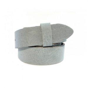 Wechselgürtel Ledergürtel graublau 3cm ohne Schnalle