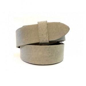 Wechselgürtel Ledergürtel taupe 3cm ohne Schnalle