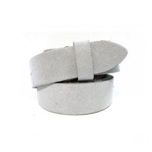 Wechselgürtel Ledergürtel weiß elegant 3cm ohne Schnalle